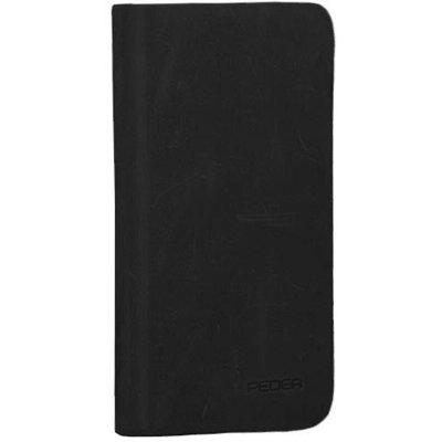 PEDEA Echtleder Book Cover für iPhone 7/8/SE (2020), schwarz