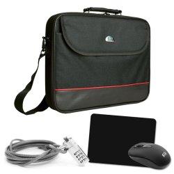 PEDEA Notebook-Tasche Starter Kit 39,6cm (15,6 Zoll), schwarz