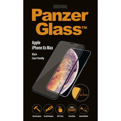 PanzerGlass f. Apple iPhone XS Max, CF, Black