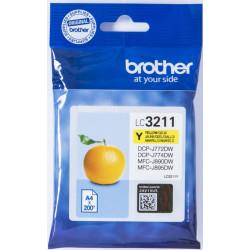 Brother Tintenpatrone LC-3211Y Gelb (ca. 200 Seiten)