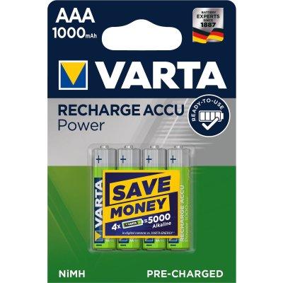 VARTA RECHARGE ACCU Power AAA 1000mAh Blister 4
