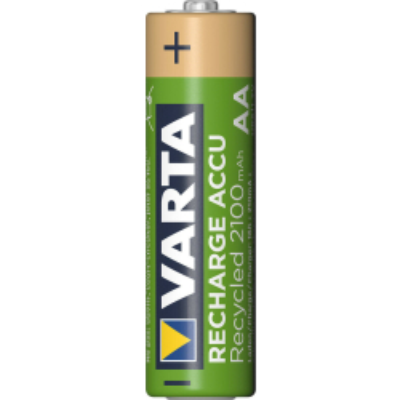 VARTA Recharge Akku Recycled AA Mignon 2er 2100mAh