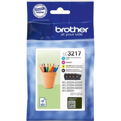 Brother Tintenpatronen LC-3217 Multipack (je 1x BK/M/C/Y)