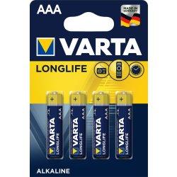 VARTA LONGLIFE Batterie AAA LR03 Micro 4er