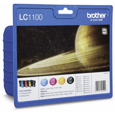 Brother Tintenpatronen LC-1100 Multipack (je 1x BK/M/C/Y)