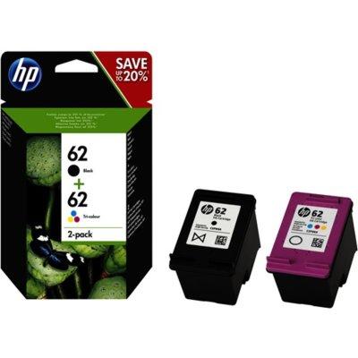 HP Tintenpatrone Nr. 62 1x Schwarz + 1x 3-farbig (ca. 165...