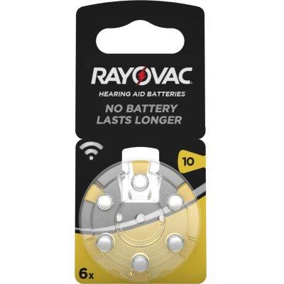 Rayovac Hörgerätebatterie 10 (PR70) 6er Blister