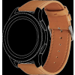 Topp - Wechselarmband für Samsung Gear S3/Galaxy Watch   Leder   Hellbraun