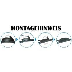 Scheibenwischer Set Satz Flachbalken für Fiat Idea / Panda / Punto