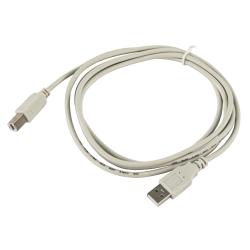 USB-Kabel McPower, 2.0, A-Stecker > B-Stecker, 1,8m, grau