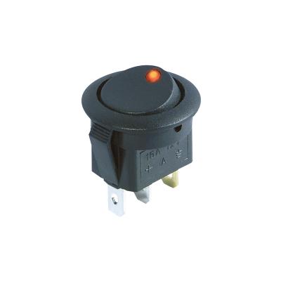 Kfz-Schalter McPower, rote LED, 12V/16A, 3-polig, Stellungen: EIN/AUS