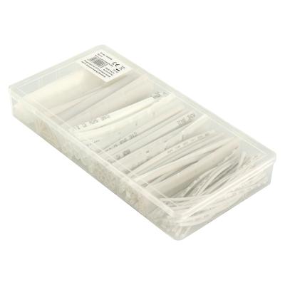 Schrumpfschlauch-Set McPower, 100-teilig in Sortimentsbox, weiß