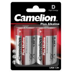 Mono-Batterie CAMELION Plus Alkaline 1,5 V, Typ D/LR20, 2er Blister
