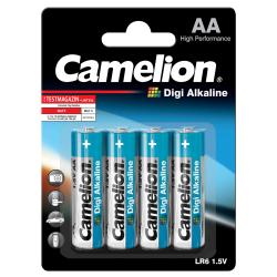Mignon-Batterie CAMELION Digi Alkaline 1,5 V, Typ AA/LR6, 4er-Blister