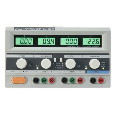 Labornetzgerät McPower Digi 302-05, 2x 0-30V, 0-5A, 1x 5V/3A