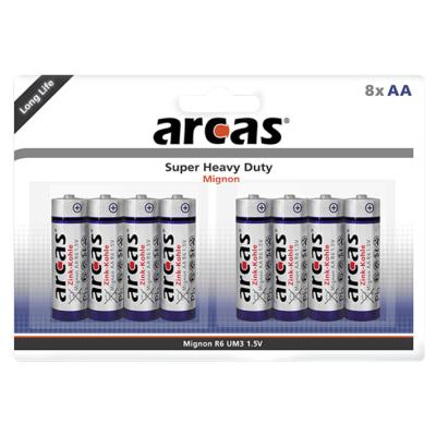 Mignon-Batterie Super Heavy Duty 1,5V, Typ AA/R06, 8er-Pack