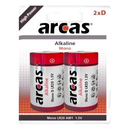 Mono-Batterie Alkaline 1,5V, Typ D/LR20, 2er-Pack
