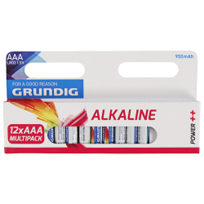 Micro-Batterie GRUNDIG Alkaline, 1,5V, Typ AAA/LR03,...