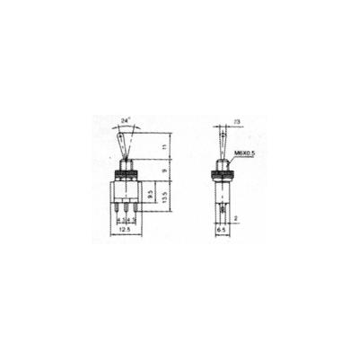 Miniatur-Kippschalter McPower, 3-polig, 1xUM, 2...