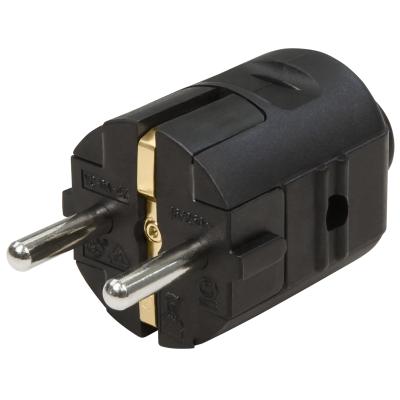 Schutzkontakt-Stecker McPower, schwarz