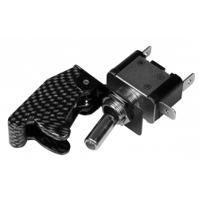 Kill-Switch McPower, Schutzkappe und LED, carbon, 12V/35A