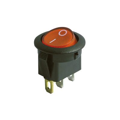 Wippenschalter, 3-polig, rote Wippe, beleuchtet, AC 250V...