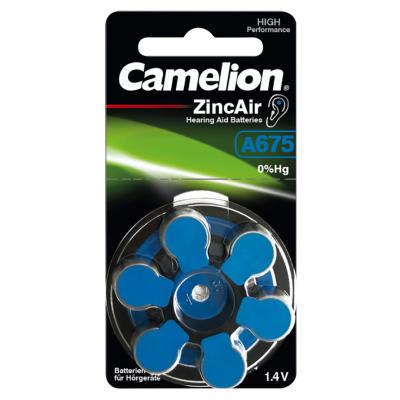 Knopfzelle CAMELION, A675, Zink-Luft, 6er-Blister