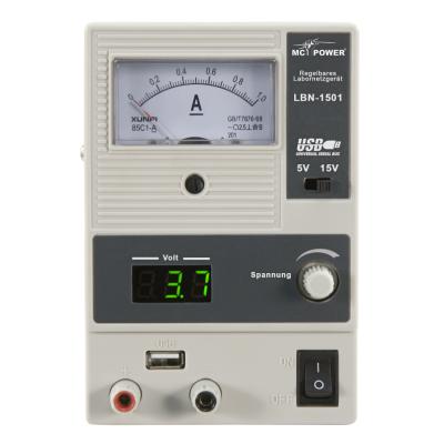 Labornetzgerät McPower LBN-1501, 0-15V, 0-1A, 15...