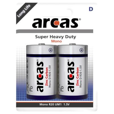 Mono-Batterie Super Heavy Duty 1,5V, Typ D/R20, 2er-Pack