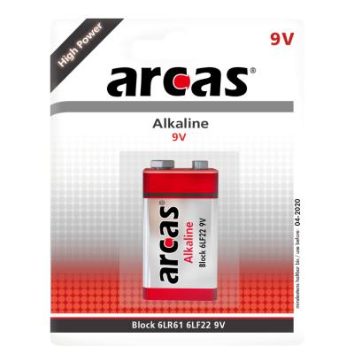 Block-Batterie Alkaline 9V, Typ 6LF22, 1er-Blister