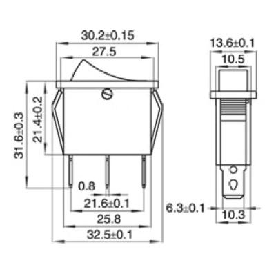 Wippenschalter McPower, beleuchtet, 3-polig, 250V~/15A,...