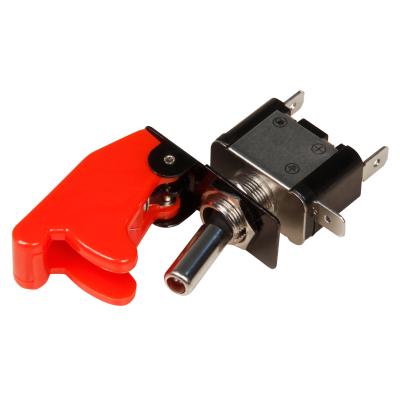 Kill-Switch McPower mit Schutzkappe und LED, 12V / 35A, rot