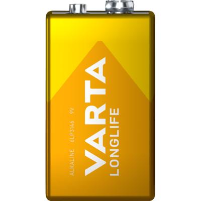 9V-Batterie VARTA LONGLIFE Alkaline, 1,5 V, 1er-Blister