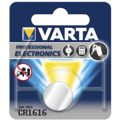 Lithium-Knopfzelle VARTA CR 1616, 55mAh, 3V 1er-Blister