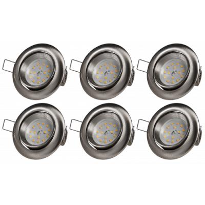 LED Einbauleuchte McShine intense 5W, 400lm, Edelstahl...