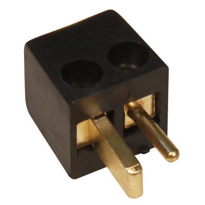 Auto-Lautsprecher-Stecker, vergoldet, schwarz