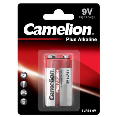 Block-Batterie CAMELION Plus Alkaline 9V, Typ 6F22, 1er...