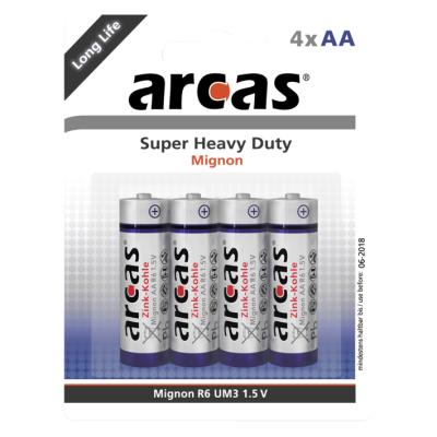 Mignon-Batterie Super Heavy Duty 1,5V, Typ AA/R6, 4er-Pack