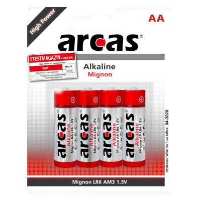 Mignon-Batterie Alkaline 1,5V, Typ AA/LR6, 4er-Pack