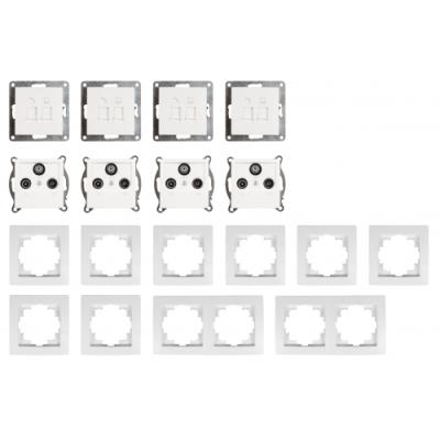 McPower Schalter und Steckdosen Set Flair - Multimedia |...