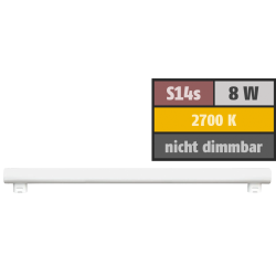 LED Linienlampe HD95 S14s, 8W, 480lm, 2700K,...
