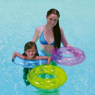 Transparenter Schwimmring Ø51 cm, verschiedene Farben