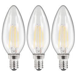 LED Filament Set McShine, 3x Kerzenlampe, E14, 3,6W, 360lm, warmweiß, klar