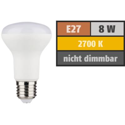 LED Reflektor R63, E27, 8W, 806lm, 2700K, warmweiß