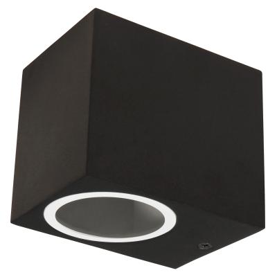 Wandleuchte McShine Square-A schwarz, IP44, 1x GU10,...