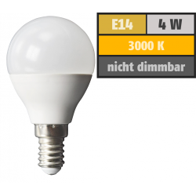 LED Tropfenlampe McShine, E14, 4W, 320lm, 160°,...