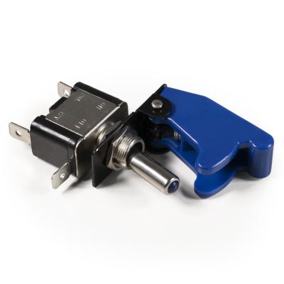 Kill-Switch McPower mit Schutzkappe und LED, 12V / 35A, blau
