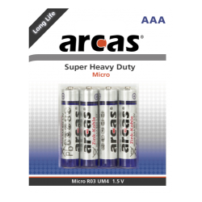 Micro-Batterie Super Heavy Duty 1,5V, Typ AAA/R03, 4er-Pack