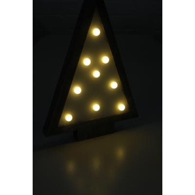LED Dekolicht mit Holzrahmen, 9 LED