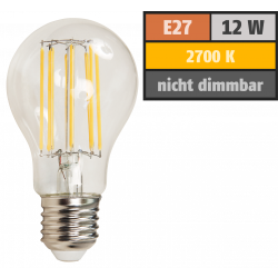 LED Filament Glühlampe McShine Filed, E27, 12W,...